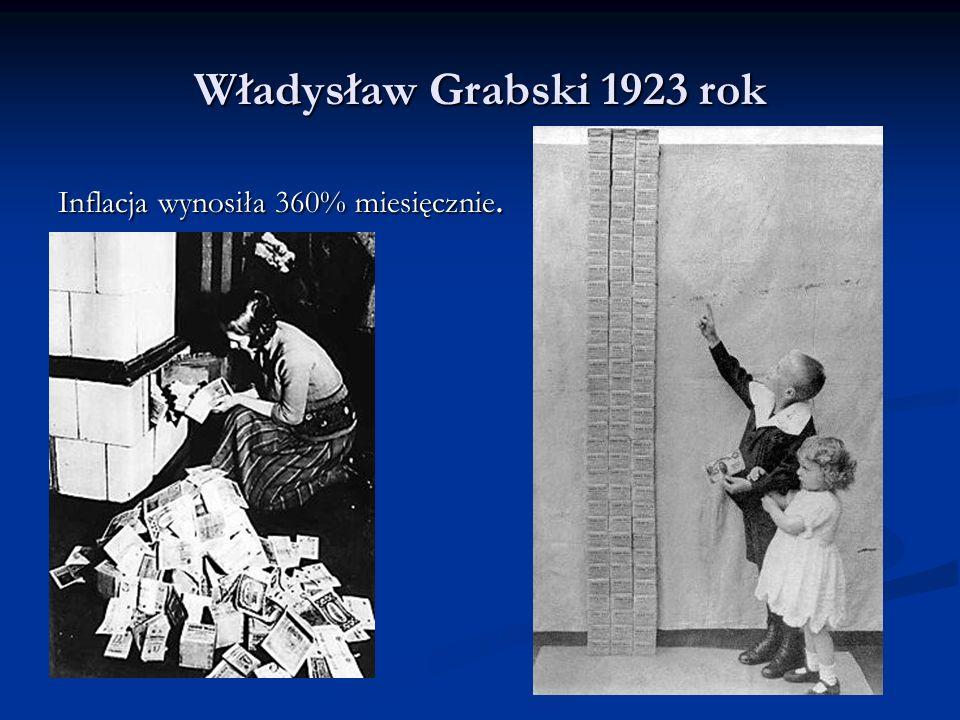 Stanisław Wojciechowski Za jednego dolara w czerwcu 1923 roku płacono trzy i pół miliona marek polskich.