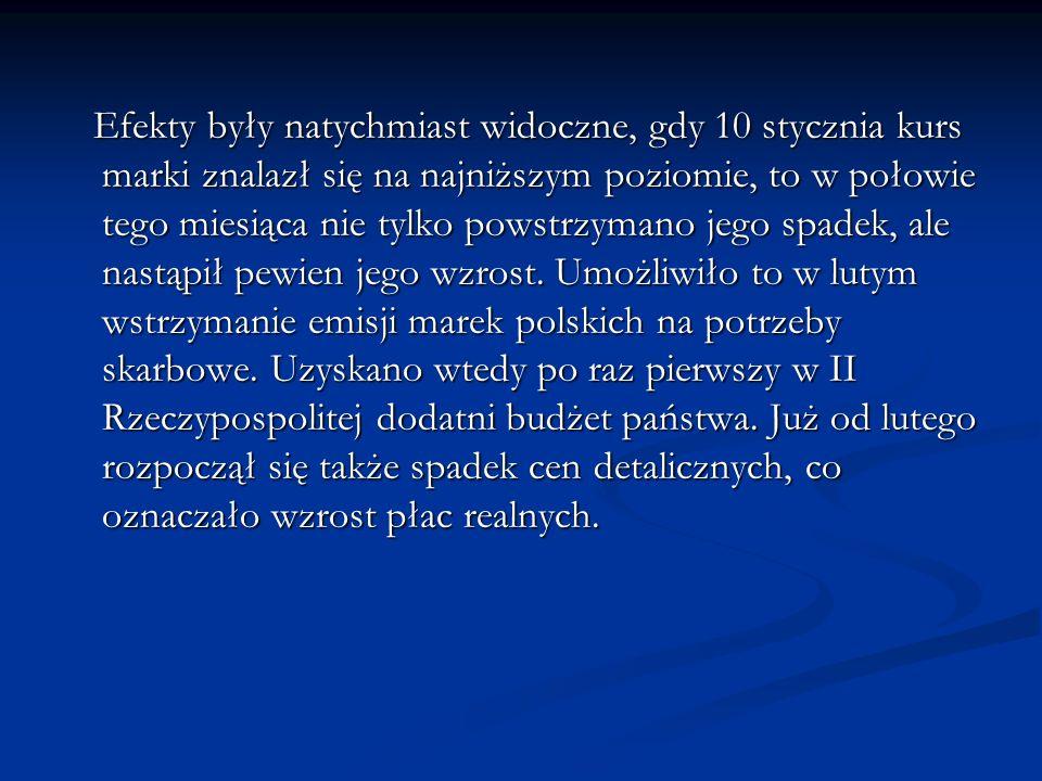 2.Utworzenie Banku Polski i emisja złotego.