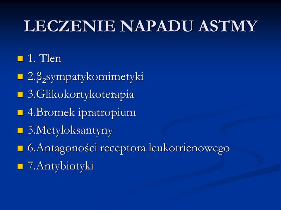 LECZENIE NAPADU ASTMY 1.Tlen 1.