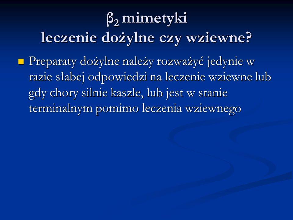 β 2 mimetyki leczenie dożylne czy wziewne.