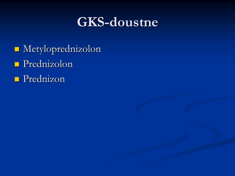 GKS-doustne Metyloprednizolon Metyloprednizolon Prednizolon Prednizolon Prednizon Prednizon