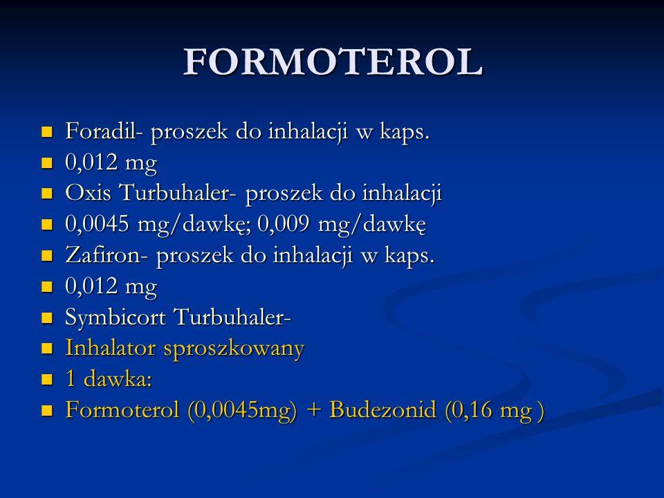 FORMOTEROL Foradil- proszek do inhalacji w kaps.Foradil- proszek do inhalacji w kaps.