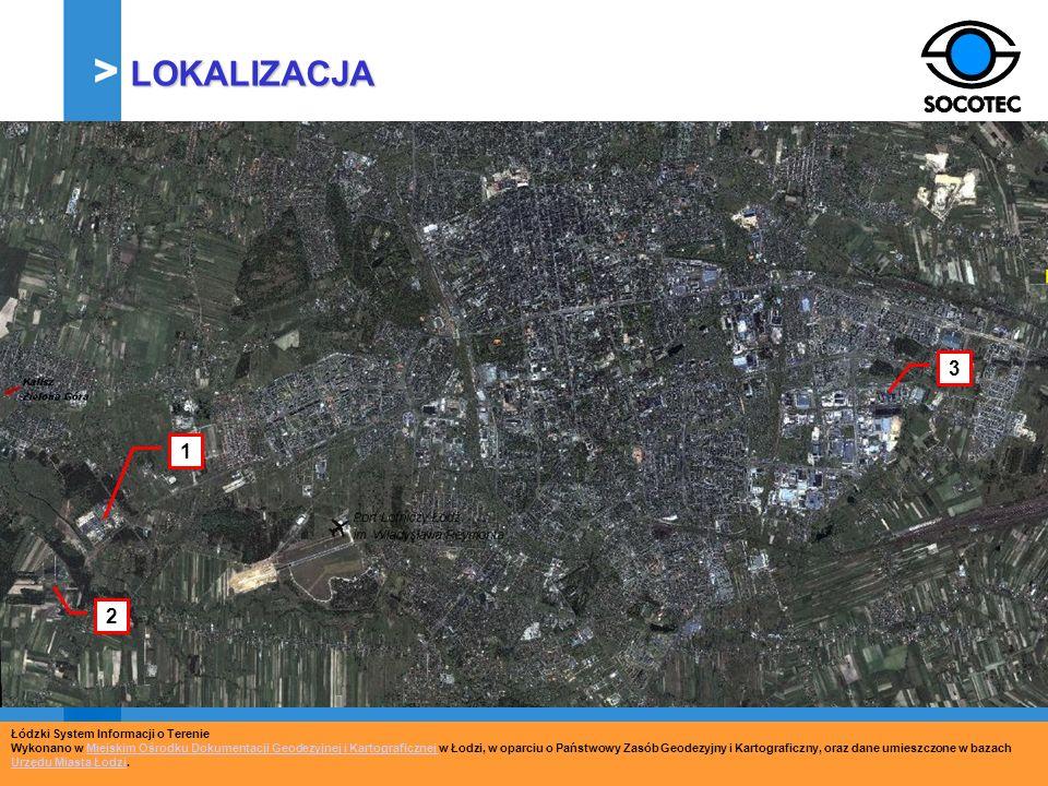1 2 3 Łódzki System Informacji o Terenie Wykonano w Miejskim Ośrodku Dokumentacji Geodezyjnej i Kartograficznej w Łodzi, w oparciu o Państwowy Zasób G