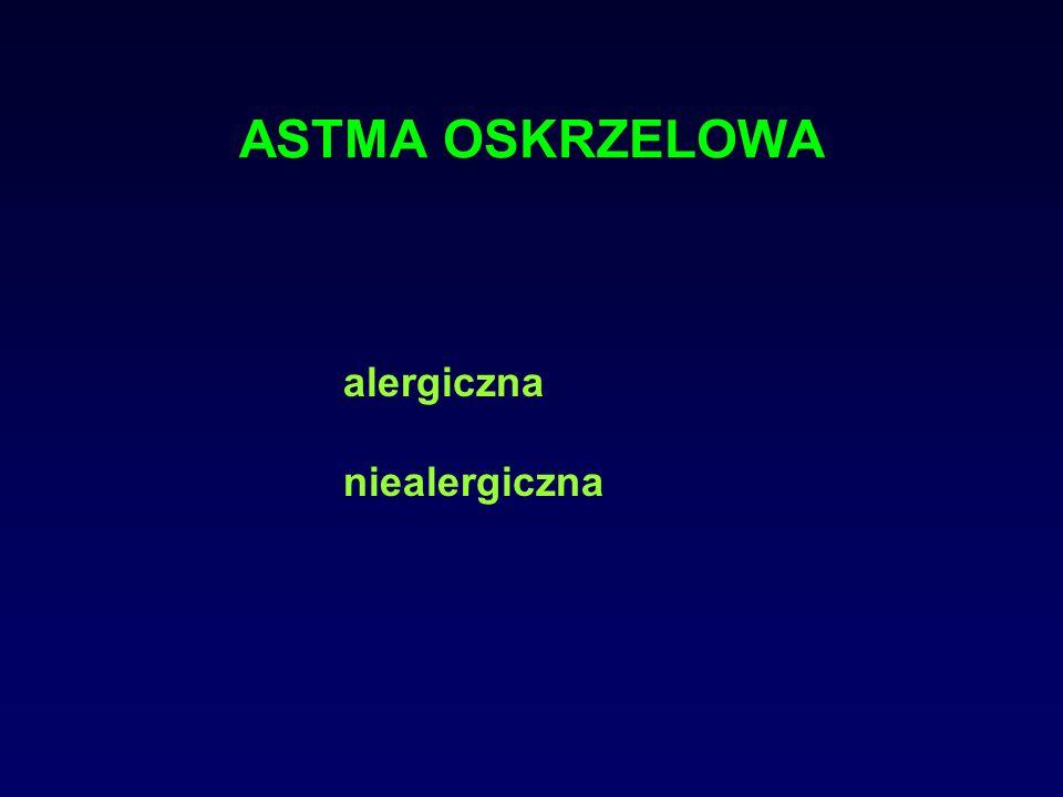 ASTMA OSKRZELOWA - inne postacie zawodowa - wywołana przez cz.