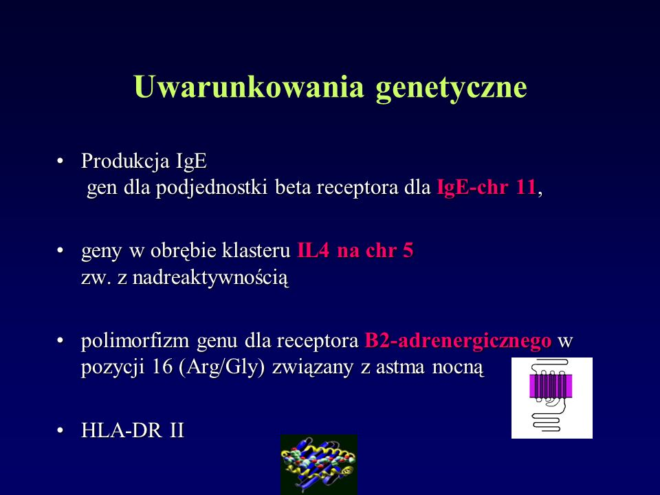 Produkcja IgE gen dla podjednostki beta receptora dla IgE-chr 11,Produkcja IgE gen dla podjednostki beta receptora dla IgE-chr 11, geny w obrębie klas