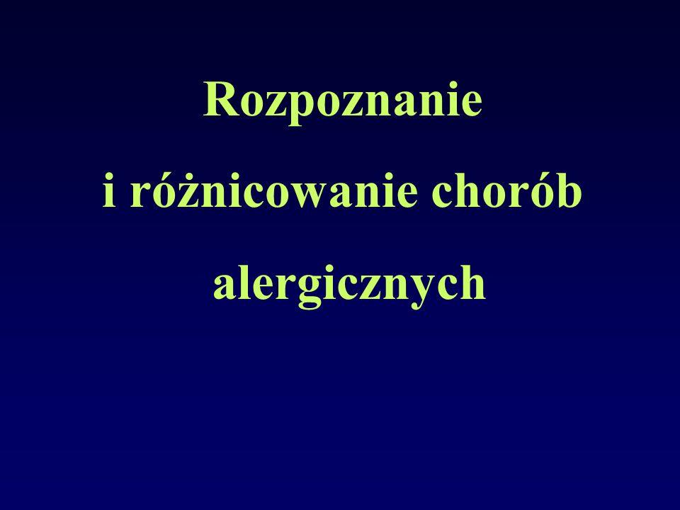 Rozpoznanie i różnicowanie chorób alergicznych