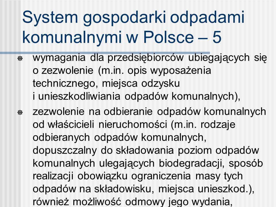 System gospodarki odpadami komunalnymi w Polsce – 5 wymagania dla przedsiębiorców ubiegających się o zezwolenie (m.in. opis wyposażenia technicznego,
