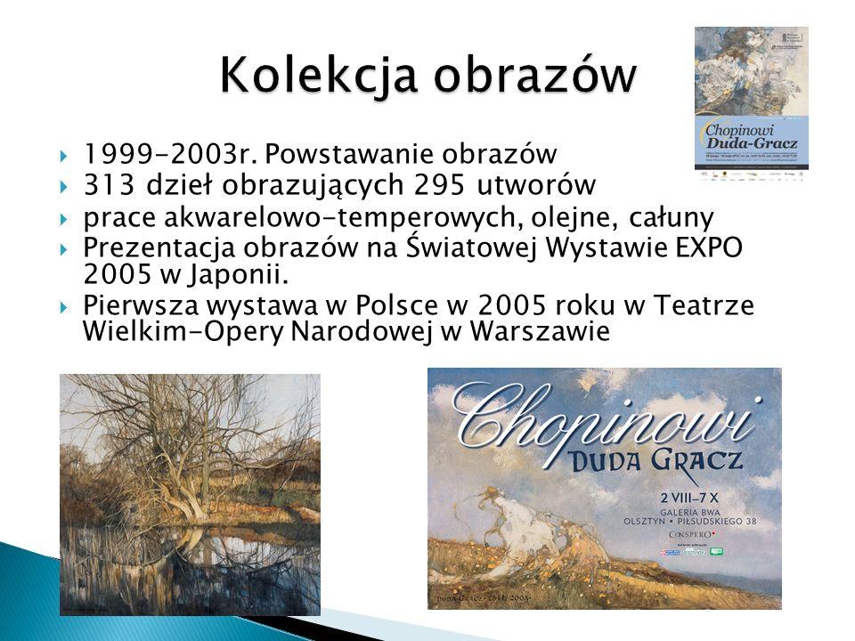 1999-2003r. Powstawanie obrazów 313 dzieł obrazujących 295 utworów prace akwarelowo-temperowych, olejne, całuny Prezentacja obrazów na Światowej Wysta