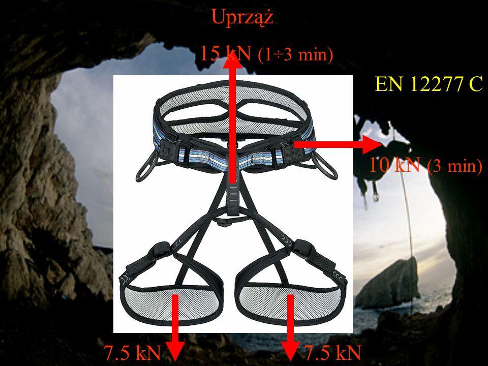 Uprząż EN 12277 C 15 kN (1÷3 min) 7.5 kN 10 kN (3 min)