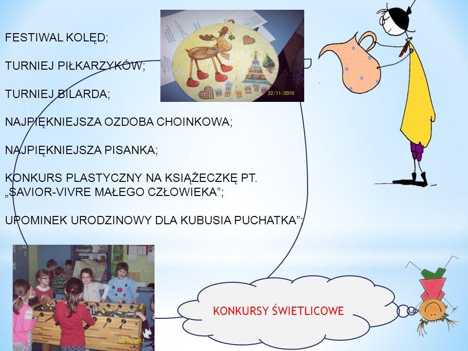 Udział podopiecznych świetlicy w konkursach powiatowych i ogólnopolskich