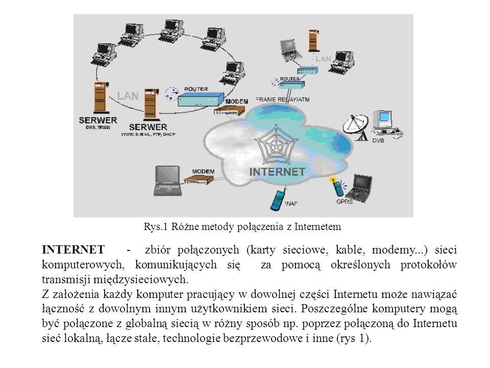Tablica pamięci ARP W celu usprawnienia działania protokołu ARP, urządzenia przechowują w pamięci tablicy ARP (ang.