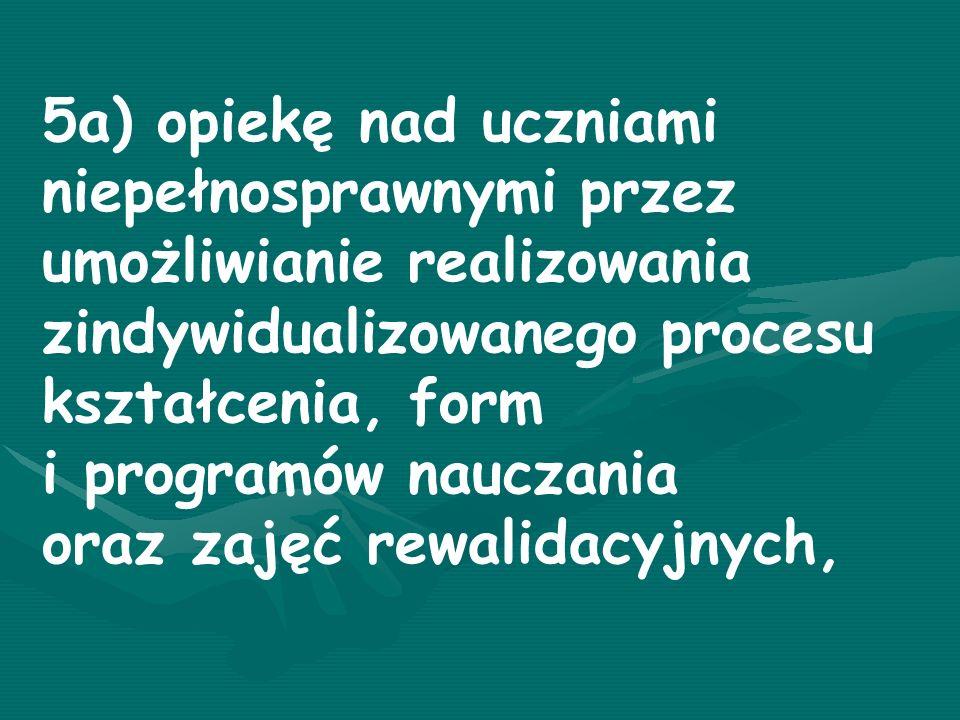 Szkoły ogólnodostępne i integracyjne zapewniają: - realizację zaleceń zawartych w orzeczeniu o potrzebie kształcenia specjalnego; - odpowiednie warunki do nauki, sprzęt specjalistyczny i środki dydaktyczne;