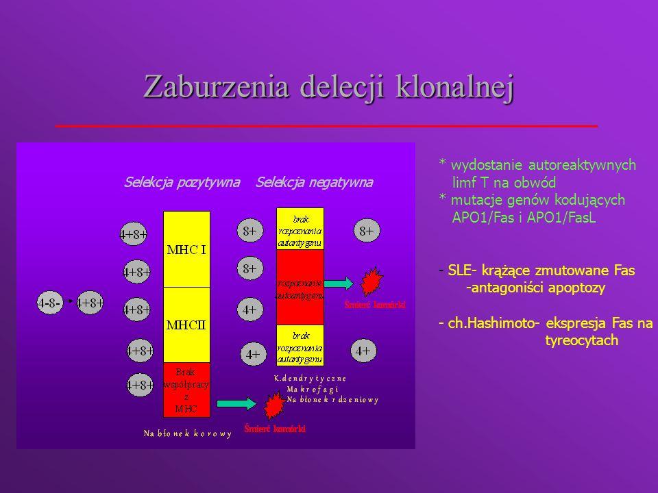 Czynniki zależne od autoantygenu Zniesienie sekwestracji autoantygenu- np.zawał m.