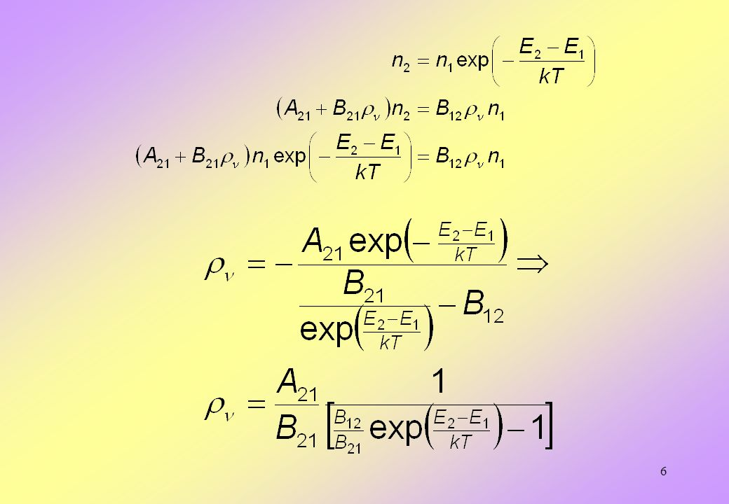 7 Ponieważ ze wzoru Plancka wiadomo, że i