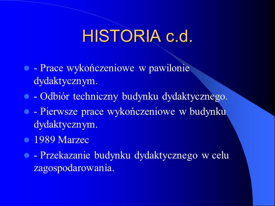 ROZDZIAŁ I HISTORIA SZKOŁY 1985 - Projekt realizacji budowy szkoły.