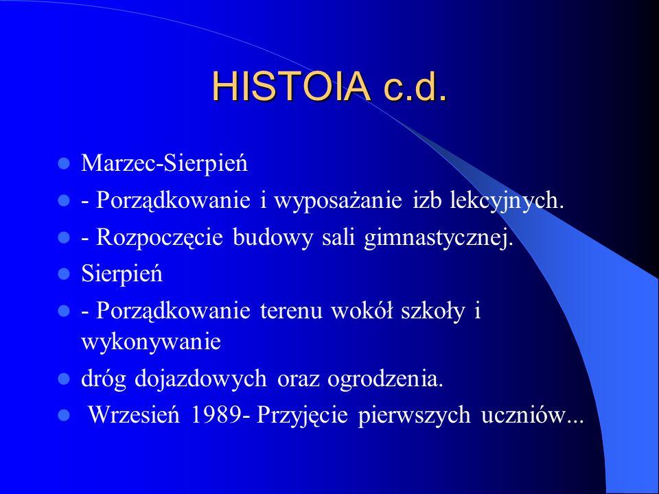 HISTORIA c.d. - Prace wykończeniowe w pawilonie dydaktycznym.