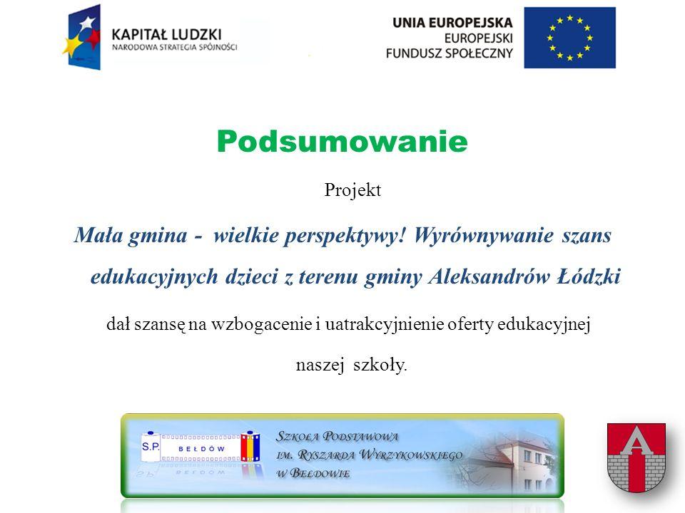 Podsumowanie Projekt Mała gmina - wielkie perspektywy.