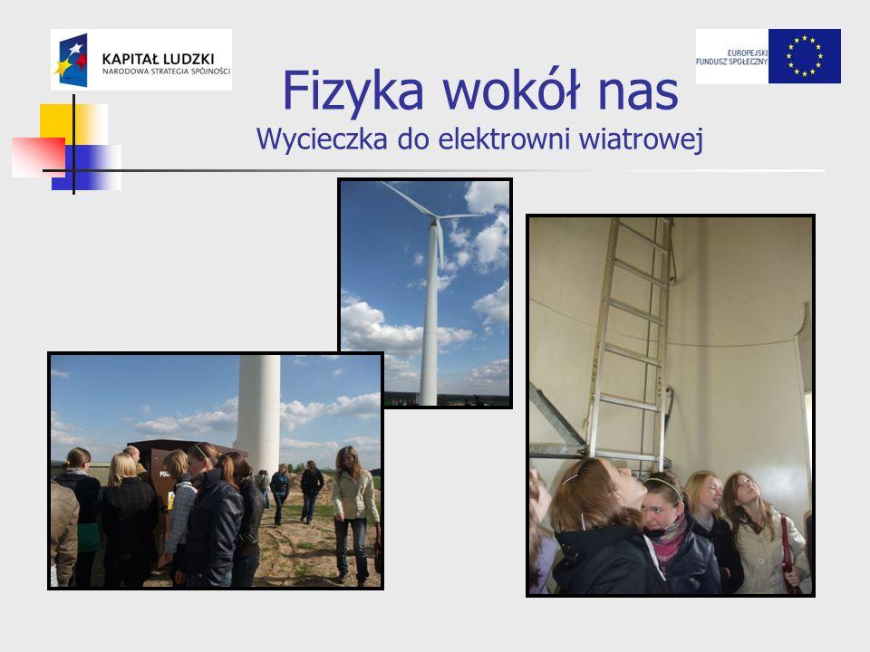 Fizyka wokół nas Wycieczka do elektrowni wiatrowej