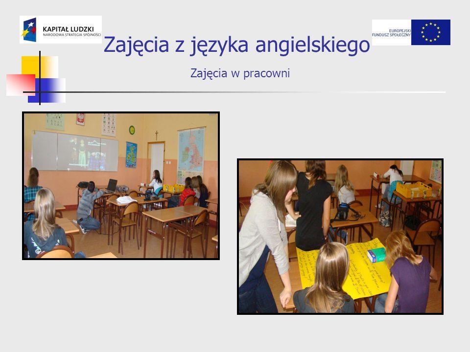 Zajęcia z języka angielskiego Zajęcia w pracowni