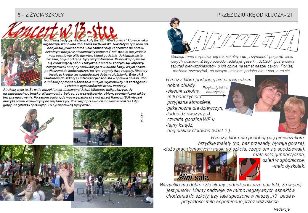 Z ŻYCIA SZKOŁY - WSPOMNIENIA - 9 20 - WARTO PRZECZYTAĆ Absolwentka Sigma Dnia 28 czerwca br.