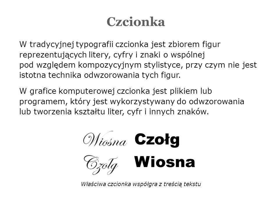 W tradycyjnej typografii czcionka jest zbiorem figur reprezentujących litery, cyfry i znaki o wspólnej pod względem kompozycyjnym stylistyce, przy czym nie jest istotna technika odwzorowania tych figur.