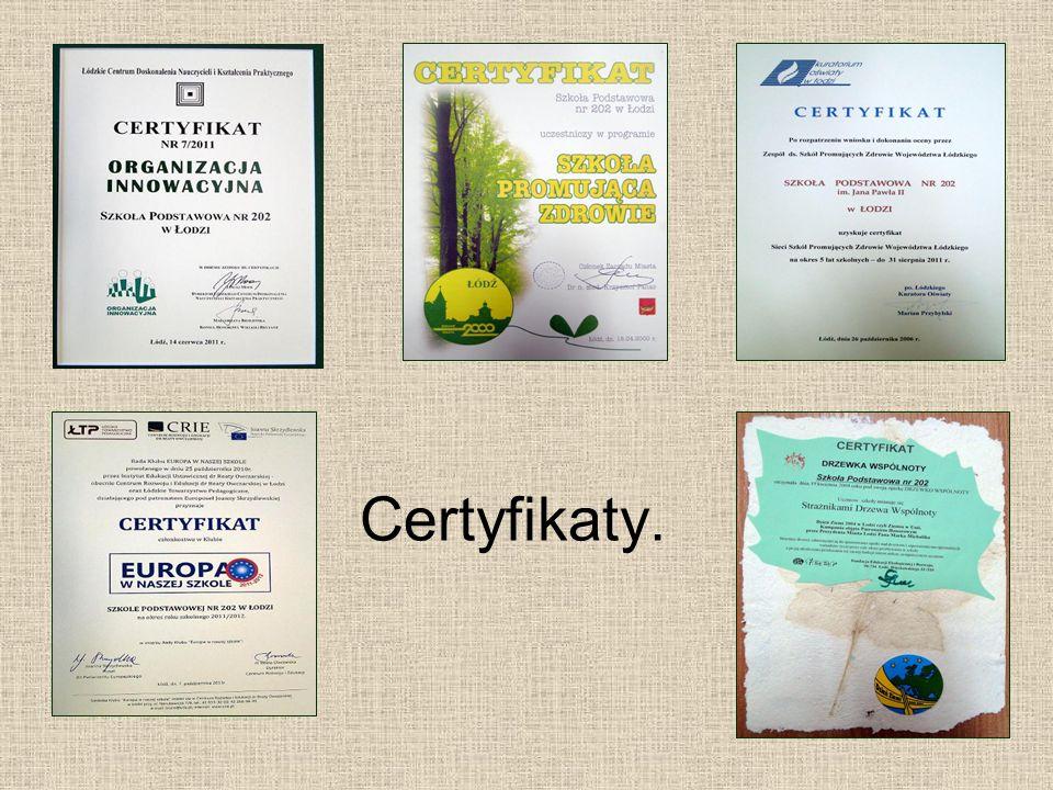 Certyfikaty.