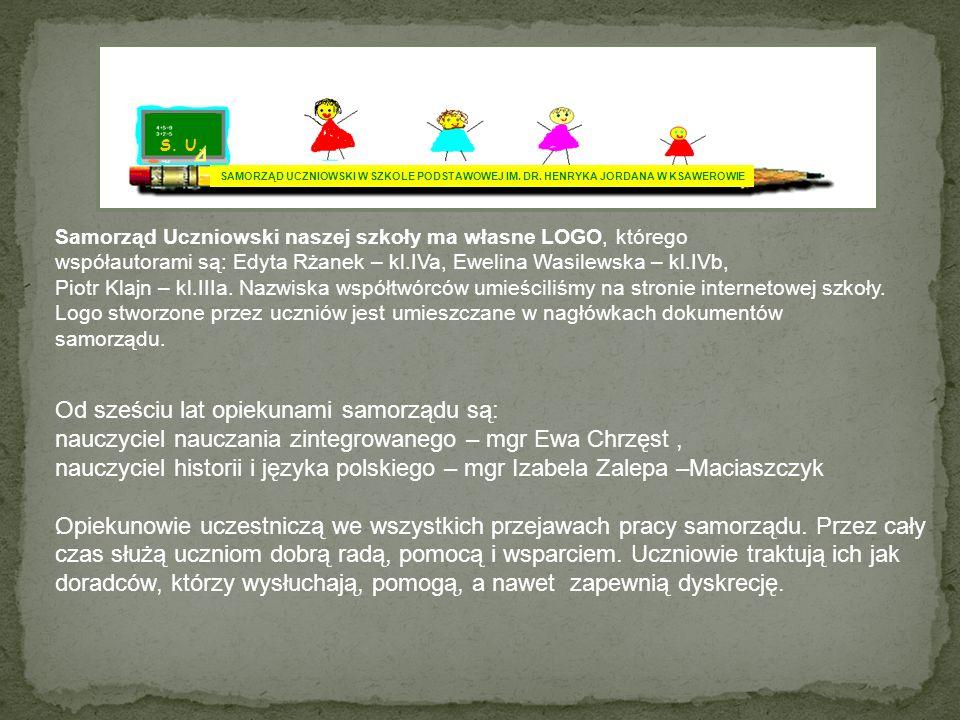 S.U. SAMORZĄD UCZNIOWSKI W SZKOLE PODSTAWOWEJ IM.