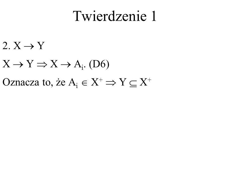 2. X Y X Y X A i. (D6) Oznacza to, że A i X + Y X + Twierdzenie 1