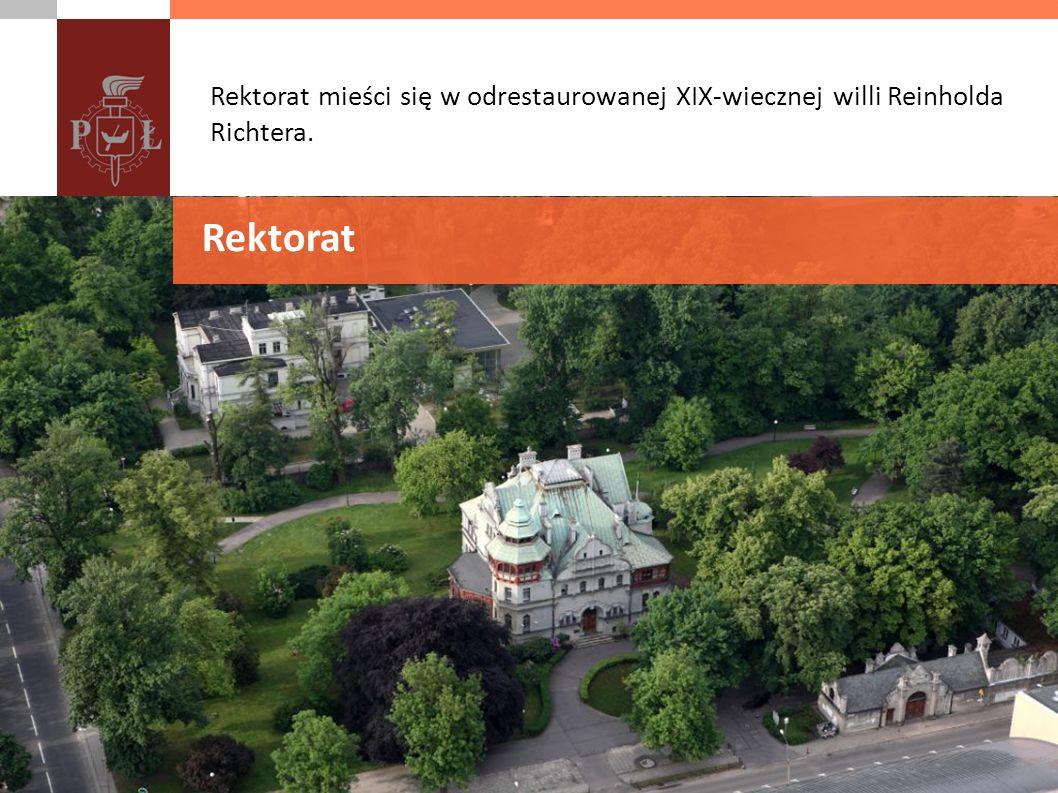 Rektorat mieści się w odrestaurowanej XIX-wiecznej willi Reinholda Richtera. Rektorat
