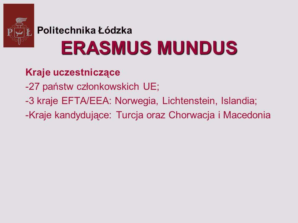 Akcje Programu Erasmus Mundus : Akcja 1.Europejskie studia magisterskie Erasmus Mundus (Erasmus Mundus Master Courses).