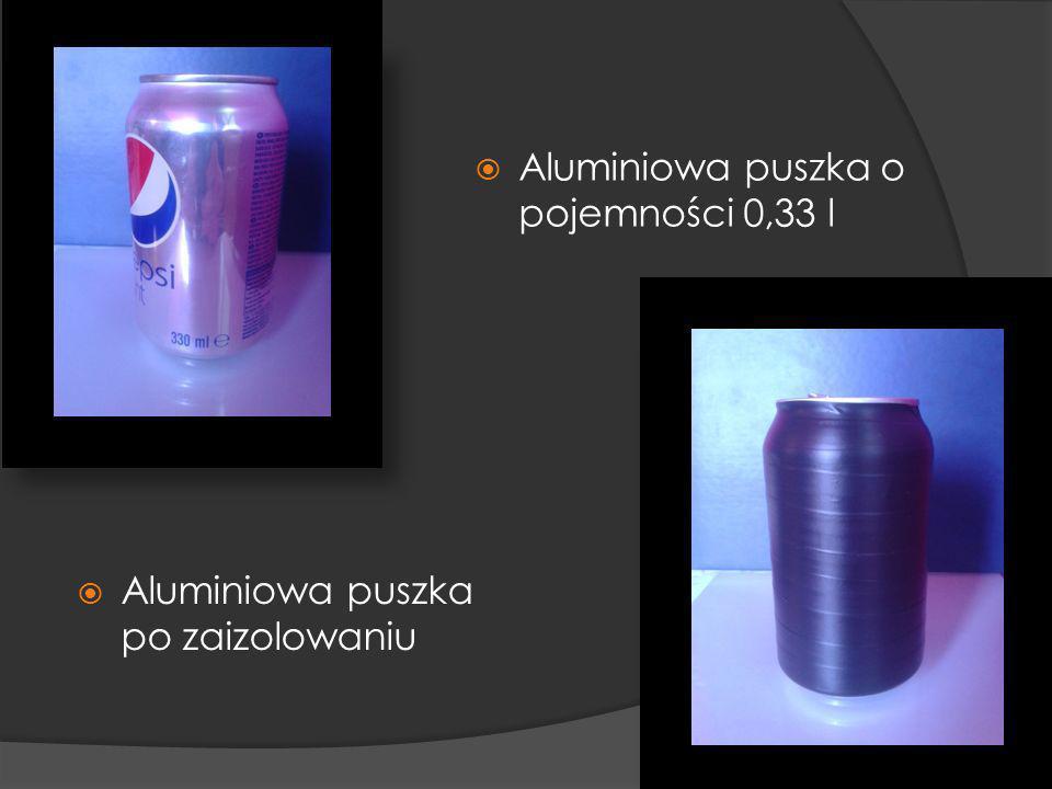 Aluminiowa puszka o pojemności 0,33 l Aluminiowa puszka po zaizolowaniu
