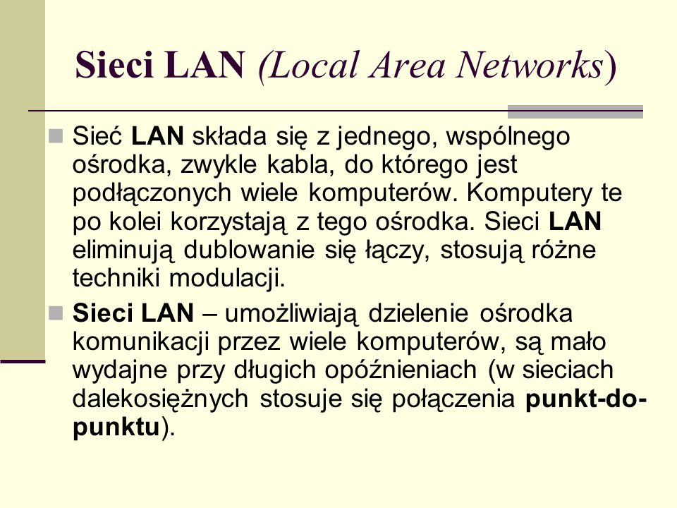 CSMA/CA (Collision Avoidance) - wykrywanie fali nośnej przy wielodostępie z unikaniem kolizji Metodę CSMA/CA stosuje się w sieciach bezprzewodowych i szerokopasmowych sieciach LAN.