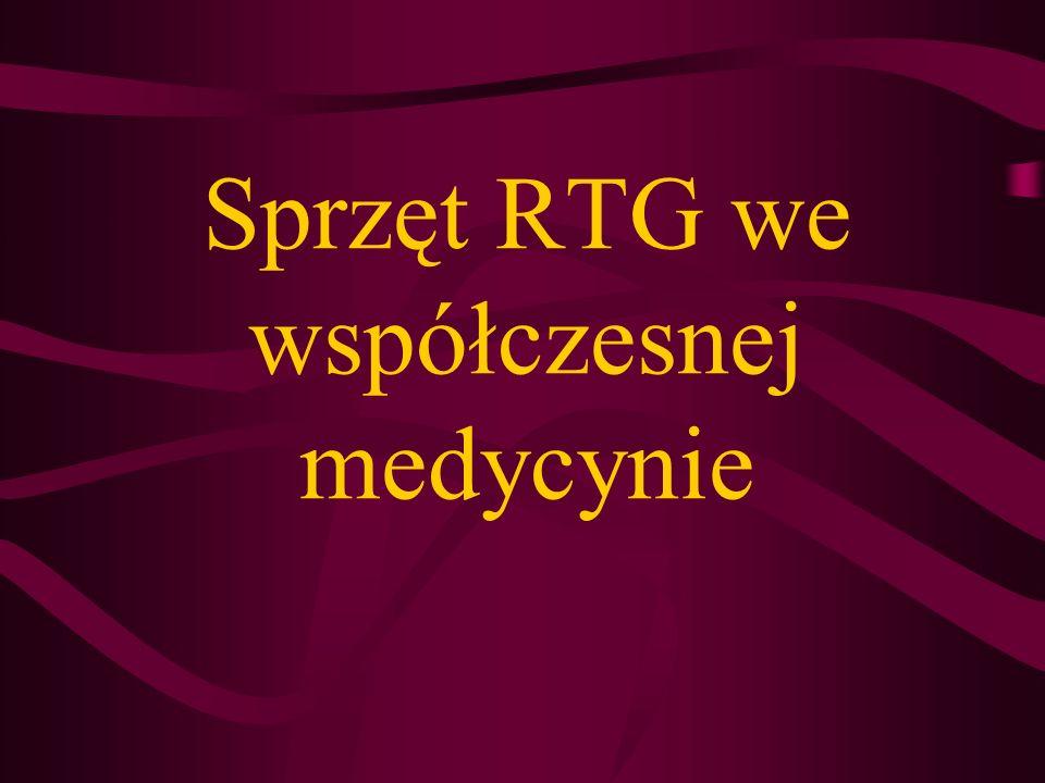 RTG ogólnego zastosowania: - rtg stacjonarne - rtg przenośne RTG specjalizowane: - rtg punktowe - rtg pantomograficzne - rtg śródoperacyjne - rtg mamograficzne Podstawowe typy urządzeń rtg