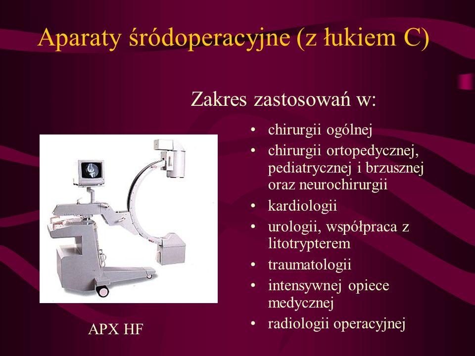 Aparaty pantomograficzne Aparat umożliwia wykonywanie zdjęć pantomograficznych pełnych i częściowych, w tym: -stawów skroniowo - żuchwowych w zwarciu i rozwarciu - zatok szczękowych -przekrojów poprzecznych PA.