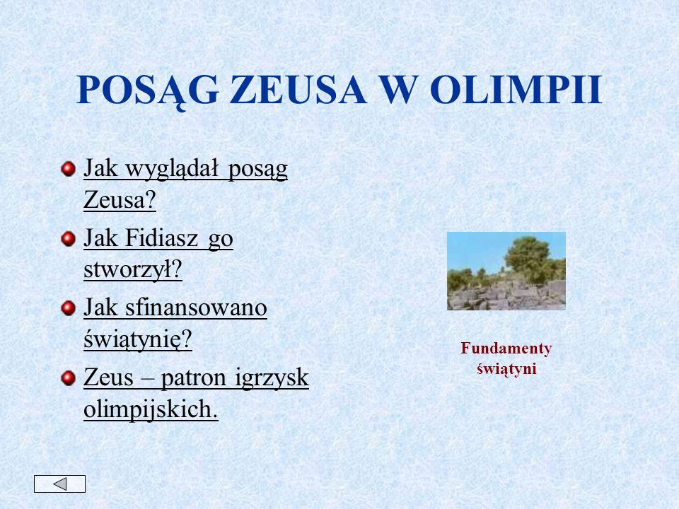 POSĄG ZEUSA W OLIMPII Jak wyglądał posąg Zeusa.Jak Fidiasz go stworzył.