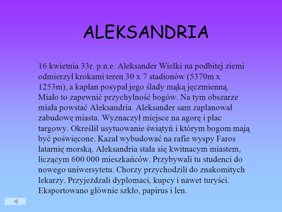 ALEKSANDRIA 16 kwietnia 33r.p.n.e.