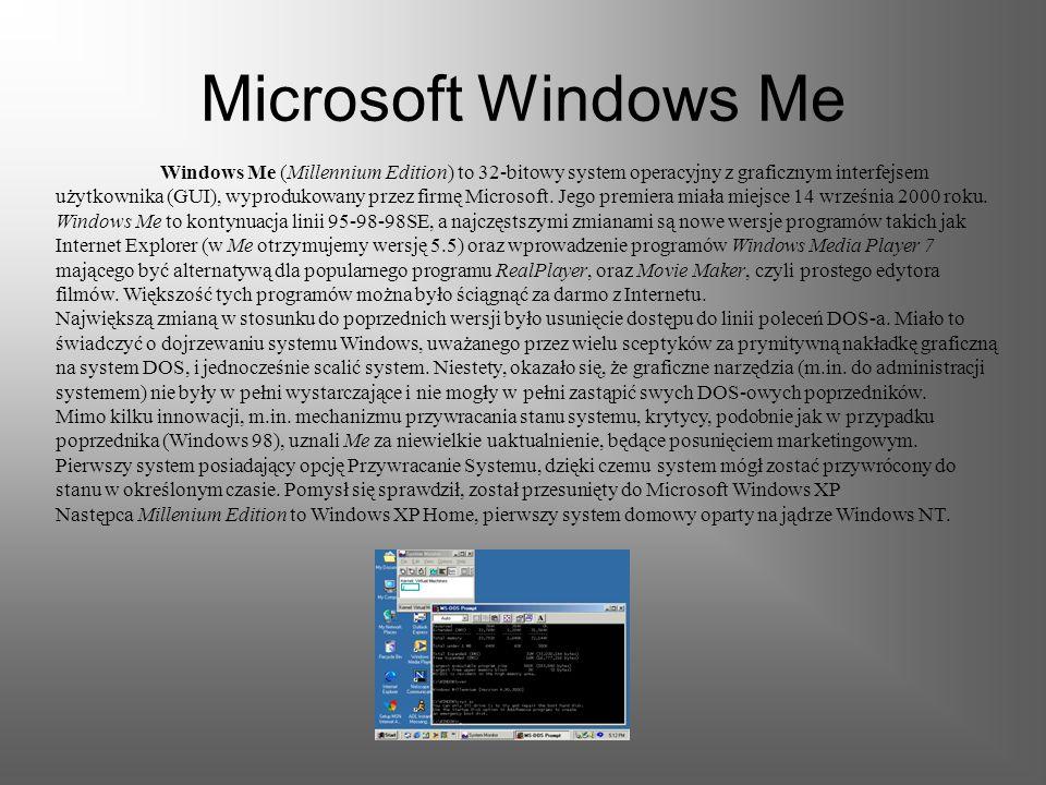 Microsoft Windows 98 (nazwa robocza Memphis) to 32-bitowy system operacyjny z graficznym interfejsem użytkownika (GUI) firmy Microsoft. Jego premiera