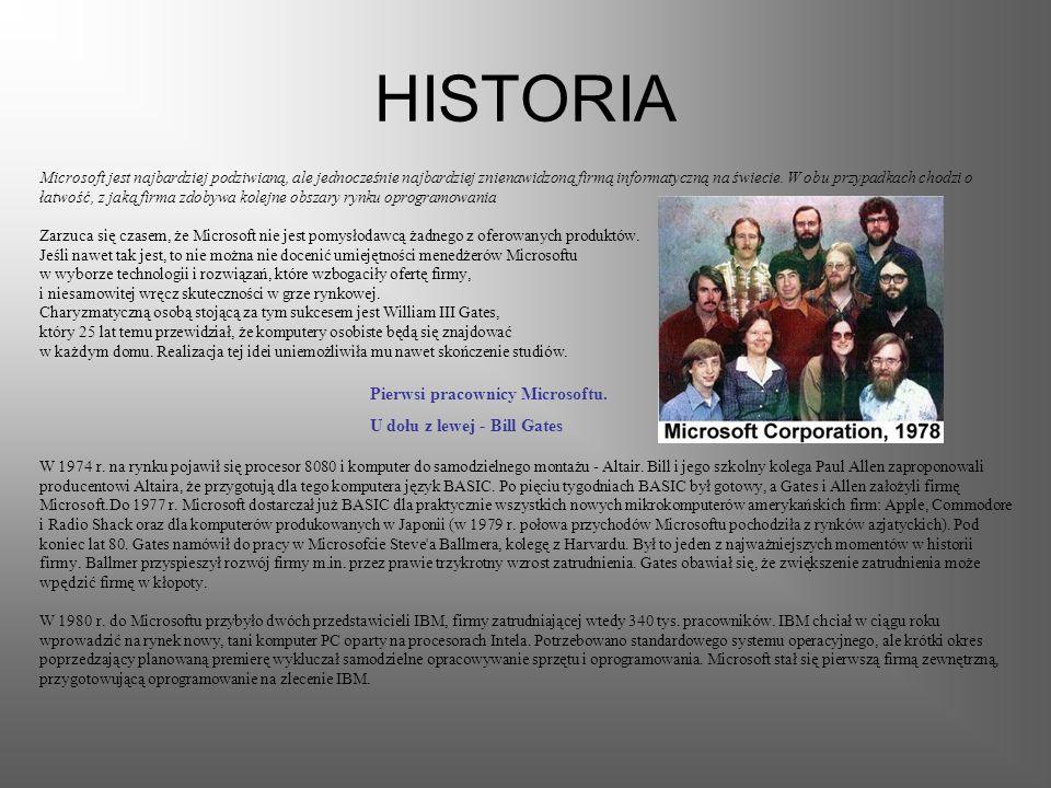 HISTORIA Microsoft jest najbardziej podziwianą, ale jednocześnie najbardziej znienawidzoną firmą informatyczną na świecie.