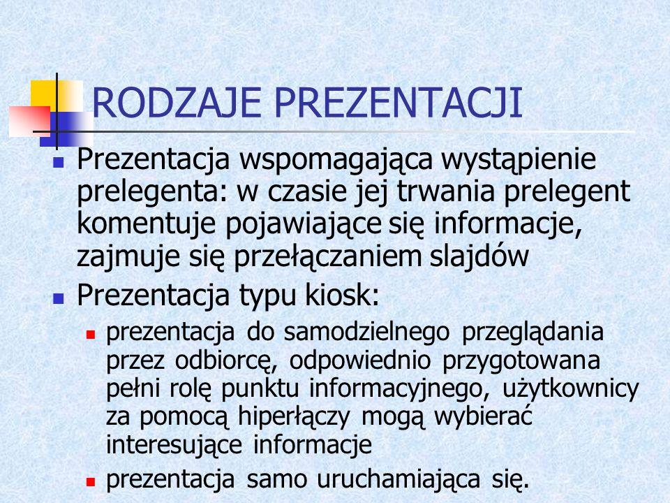 Przykładowy ogólny zarys: Pierwszy slajd zwykle zawiera tytuł, który może być sformułowany w postaci zapytania, na które oglądający znajdą odpowiedź w