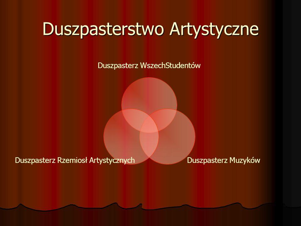 Duszpasterstwo Artystyczne Duszpasterz WszechStudentów Duszpasterz Muzyków Duszpasterz Rzemiosł Artystycznych