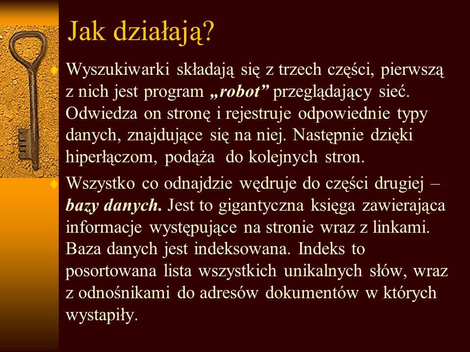Wyszukiwarki internetowe Małgorzata Matura