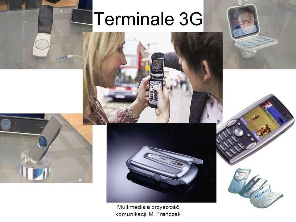 Multimedia a przyszłość komunikacji, M. Frańczak 23 Terminale 3G