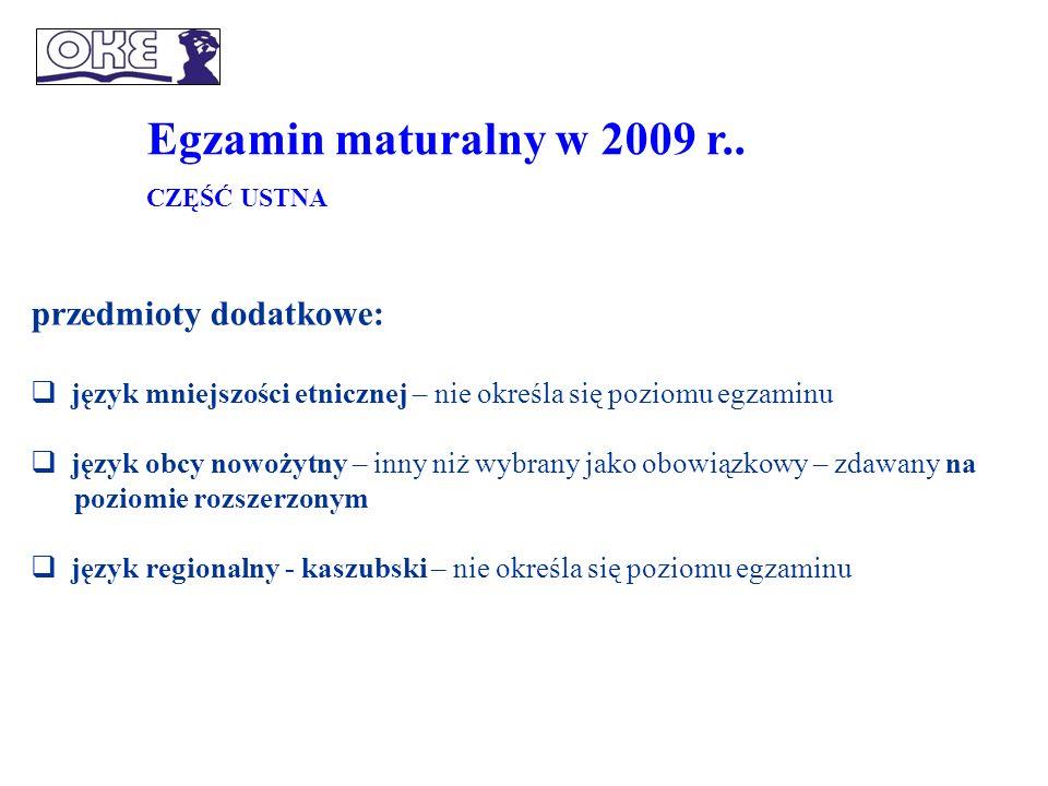 Egzamin maturalny w 2009 r..