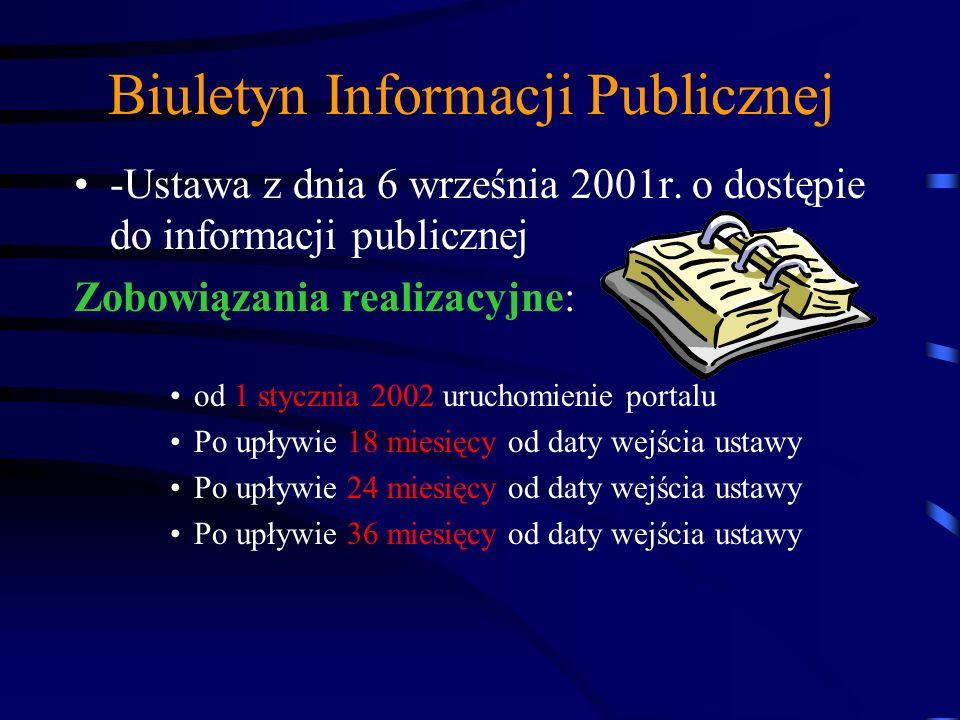 Biuletyn Informacji Publicznej Sposoby realizacji obowiązków wynikających z Ustawy o dostępie do informacji publicznej mgr inż. Robert KOZŁOWSKI Zastę