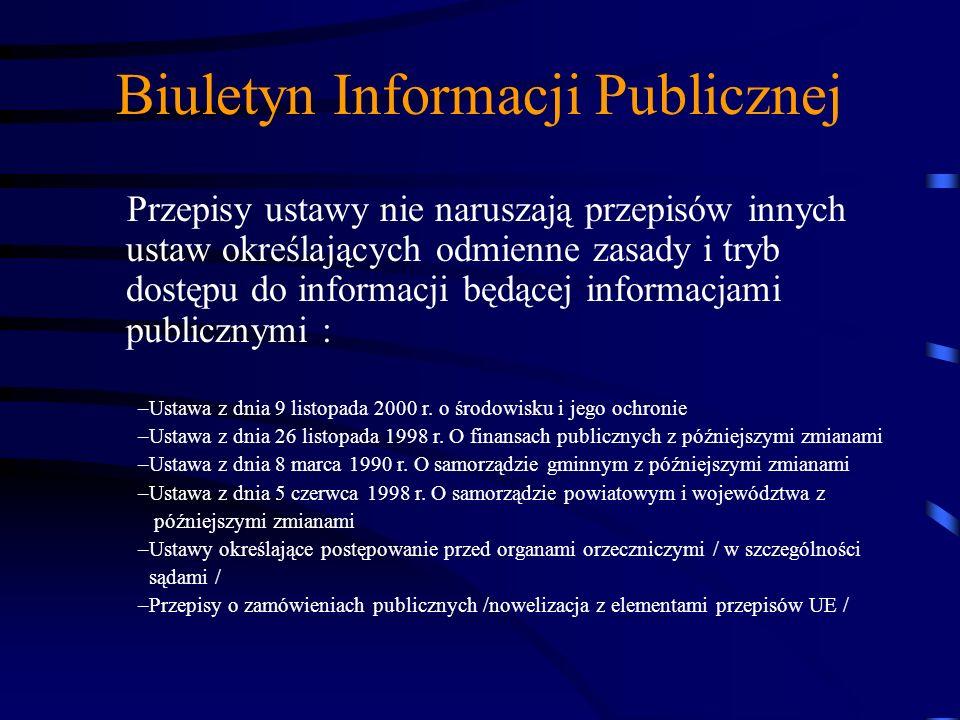 Biuletyn Informacji Publicznej Akty prawne i dokumenty programowe mające wpływ na zawartość publikowanej informacji publicznej Uchwała Sejmu RP w spra