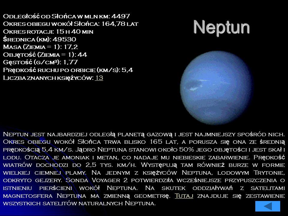 Uran jest kolejn ą spo ś ród planet zewn ę trznych, b ę d ą cych gazowymi olbrzymami. Z Ziemi jest ledwo widoczny nawet przez teleskop gdy ż znajduje