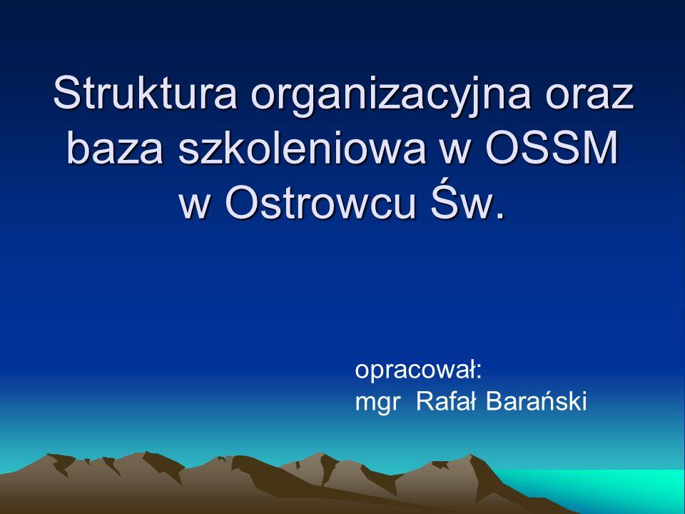 Struktura organizacyjna oraz baza szkoleniowa w OSSM w Ostrowcu Św. opracował: mgr Rafał Barański