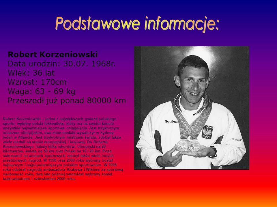 Robert Korzeniowski Data urodzin: 30.07.1968r.