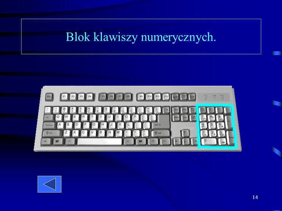 13 Za pomocą klawiszy kierunkowych można poruszać kursorem na ekranie - w pionie lub w poziomie. Z kolei klawisze i przesuwaja kursor od razu o całą s