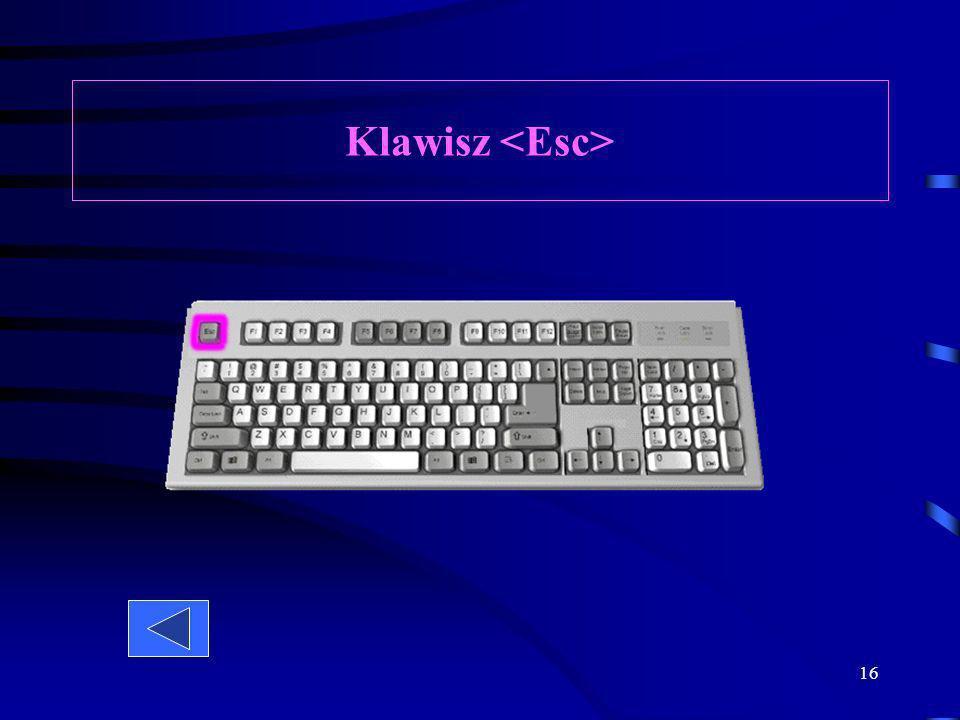 15 Klawiatura numeryczna jest włączona dopiero wówczas, gdy naciśniemy klawisz. Służy ona przede wszystkim do szybkiego wpisywania długich kolumn licz